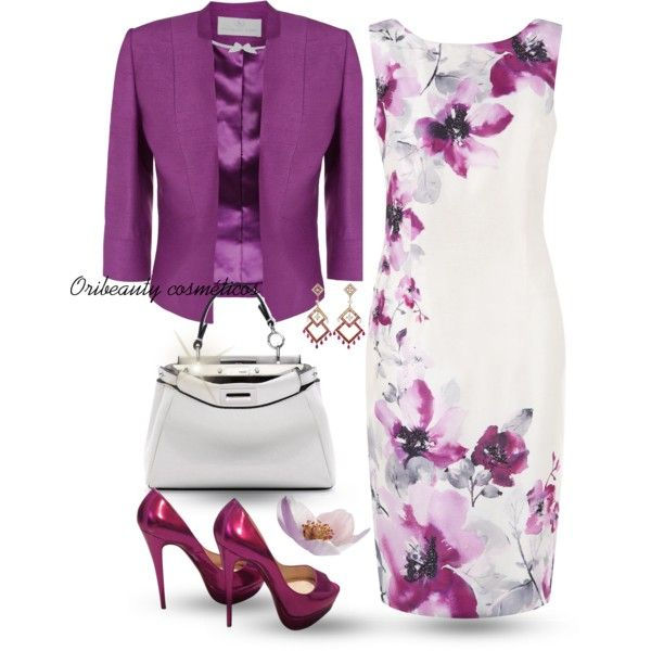 Purple & White by oribeauty-cosmeticos on Polyvore featuring polyvore, moda, style, Jacques Vert, Christian Louboutin, Fendi, Boucheron, fashion and clothing