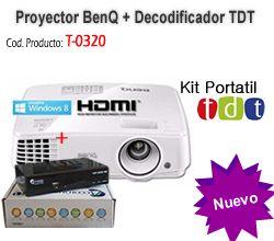 Kit TDT Portatil Proyector BENQ MS524 + Decodificador TDT DVB-T2 Colombia marca Accolombia T-0321