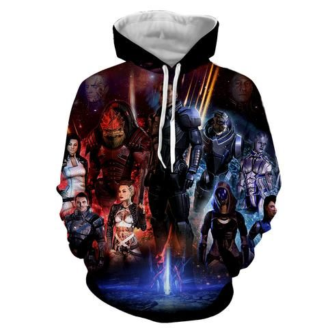 Mass Effect Galatic War Characters Full Print Game Hoodie  #MassEffect #Galatic #War #Characters #Full #Print #Game #Hoodie