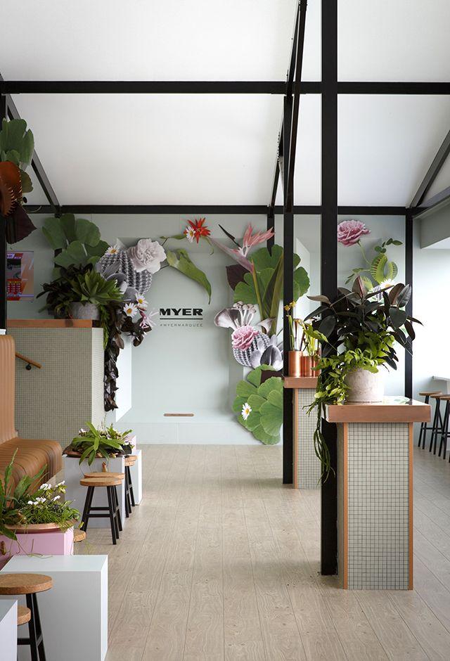 Gloss Creative | Myer 'Super Botanica' Marquee #glosscreative #myer #marquee #springracing #botanical #setdesign #installation #event