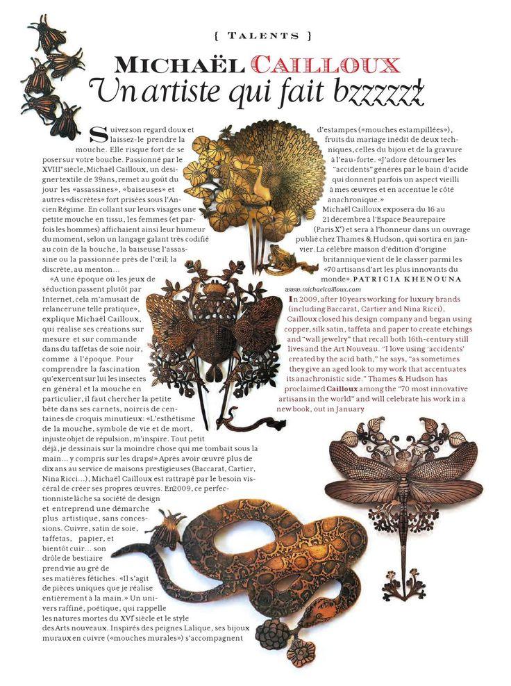 Article P55 du magazine Palace Costes : http://issuu.com/palacecostes/docs/palacecostes55/0