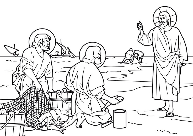 jesus disciples coloring pages - photo#27