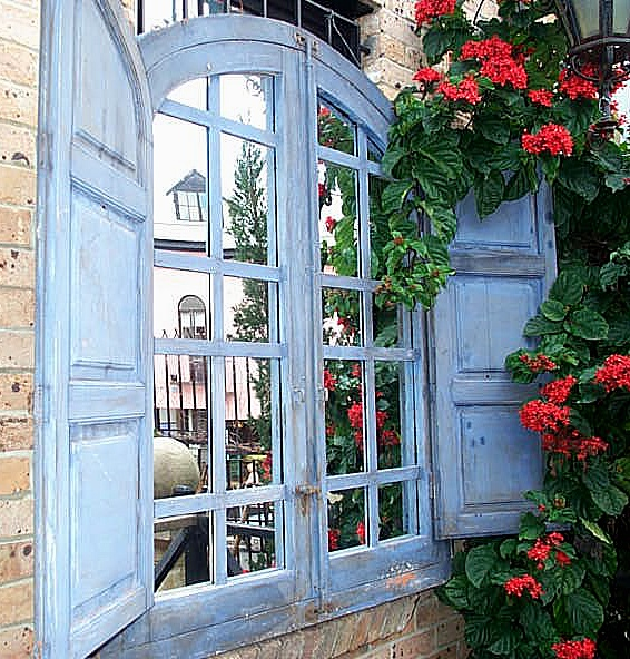 Totally divine window and shutters - wall mirror, decorative wall mirrors