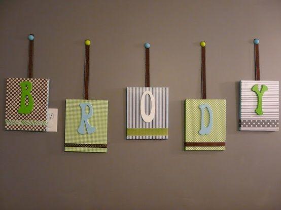 DIY room decor - baby name / DIY & Crafts / Trendy Pics