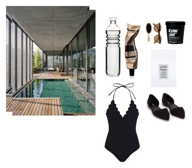 By the pool by marssysl on Polyvore featuring Marysia Swim, Nly Shoes, Ray-Ban, Aesop and Dot & Bo
