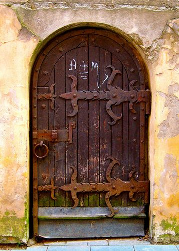 Medieval monastery doorway, Dominican Church - Vilnius, Lithuania