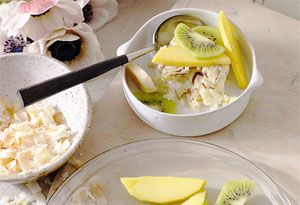 Baked Coconut and Lime Rice Pudding
