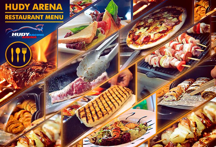 Savour your delicious breakfast, lunch & dinner during all 2016 events at Hudy Arena with our new Menu.  • Pizza 5,00 € • Pasta Bolognaise 6,00 € • Thai curry with noodles 6,00 € • Caesar salad 6,00 € • Home made sausage 3,75 € • Chicken satay 4,50 € • Marinated pork steak 5,00 € • Home made beef burger 5,00 € • Mix grill skewer 6,00 € • Club Steak 9,00 € • Side salad 1,50 € • Steak fries 1,50 € • Panini 3,25 € • Croissant 1,00 € • Selection of Danish pastry 1,00 €