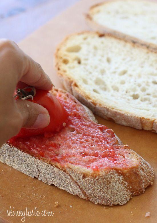 Pan con Tomate (Spanish Tomato Bread)   add manchego & jamon Serrano