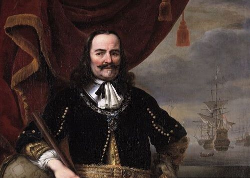 Michiel Adriaenszoon de Ruyter was a Dutch admiral. He is the most famous and one of the most skilled admirals in Dutch history, most famous for his role in the Anglo-Dutch Wars of the 17th century.