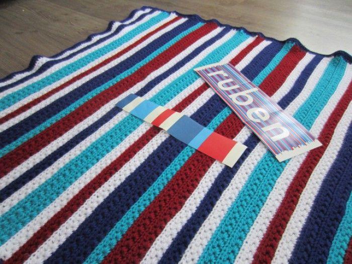 Gehaakte deken, mooi patroon voor een jongen!