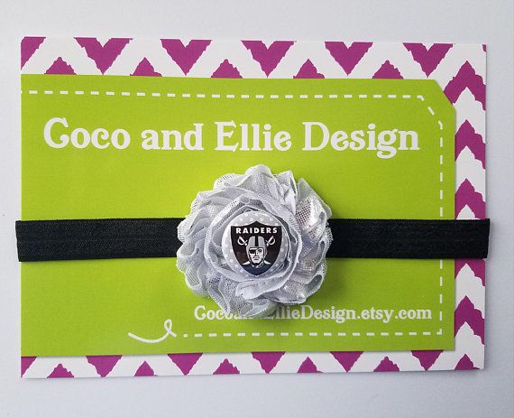 NFL Oakland Raiders headband-girl oakland raiders