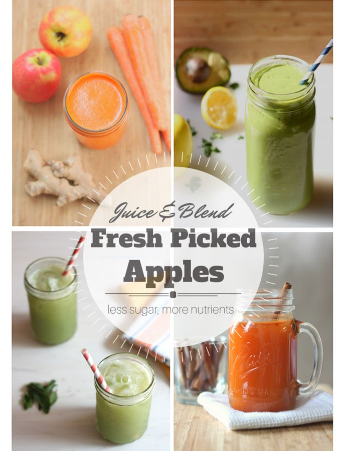 Apple juice and smoothie recipes! Perfect for leftover fresh picked apples.
