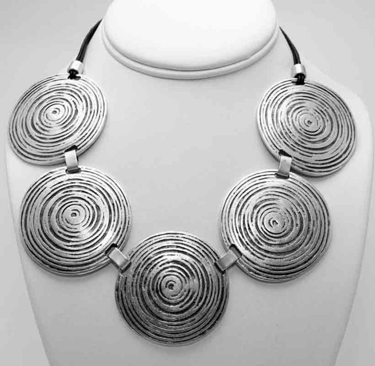 Silver zamak necklace.  Model A1104.  Part of collection 104.. Made in Turkey. Nickel and lead free.