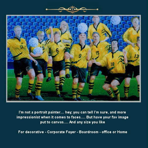 The entire team or an individual…… With acclaimed artist Malcolm Hazeldean https://www.youtube.com/watch?v=76zz2ISakDQ geatvideo@yahoo.com.au