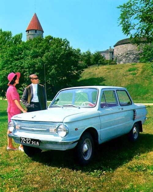 Soviet Car Ad: ZAZ-968 Zaporozhets; produced from 1971 to 1980.