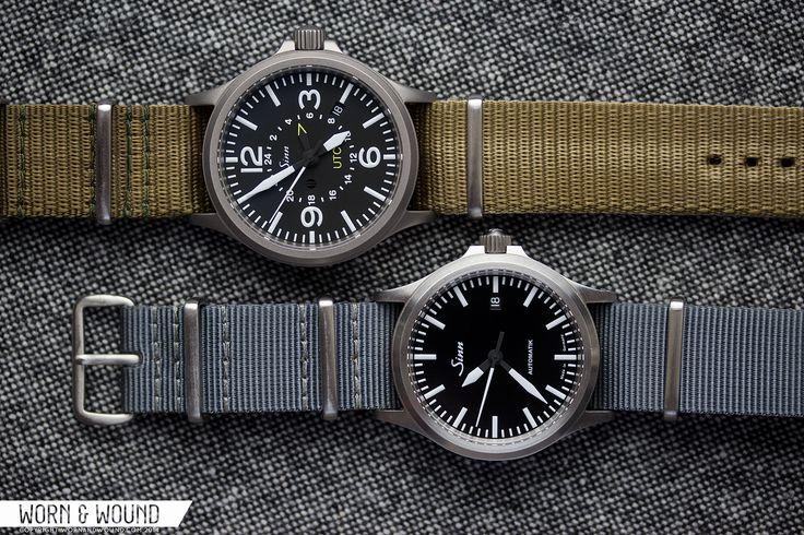 Sinn 556i and 856 UTC on NATO straps.