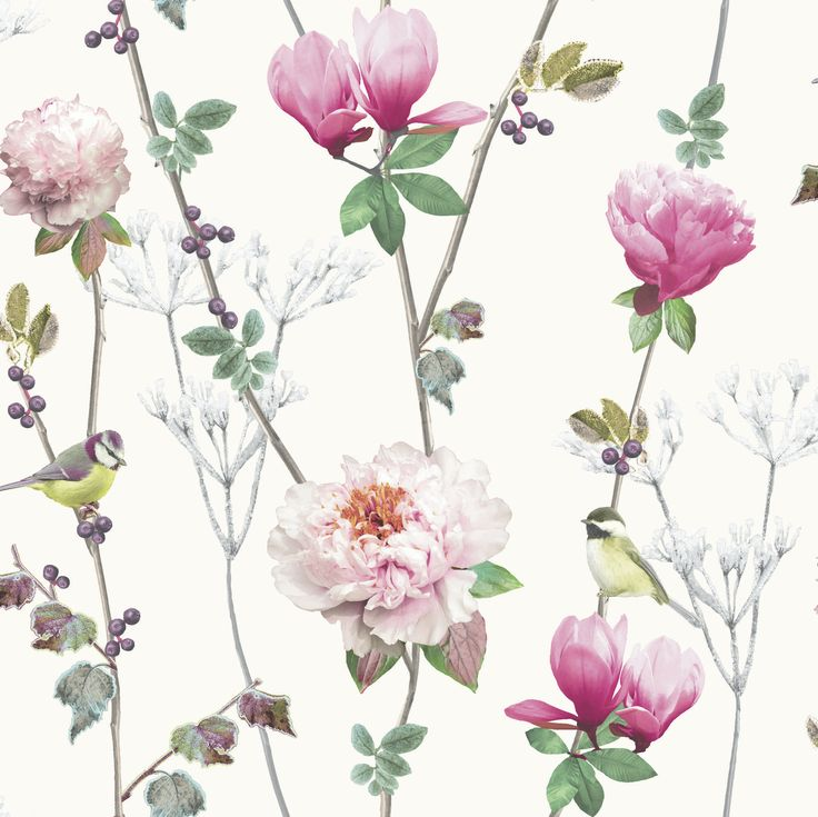 16 best wallpaper images on pinterest child room infant room and arthouse ella x floral and botanical wallpaper color silver mightylinksfo