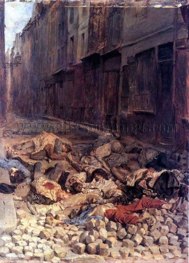 Ernest Meissonier, The Barricade, rue de la Mortellerie, June 1848