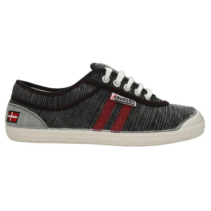 Zapatillas Kawasaki Retro Stitch Black  #zapatillas #moda #verano