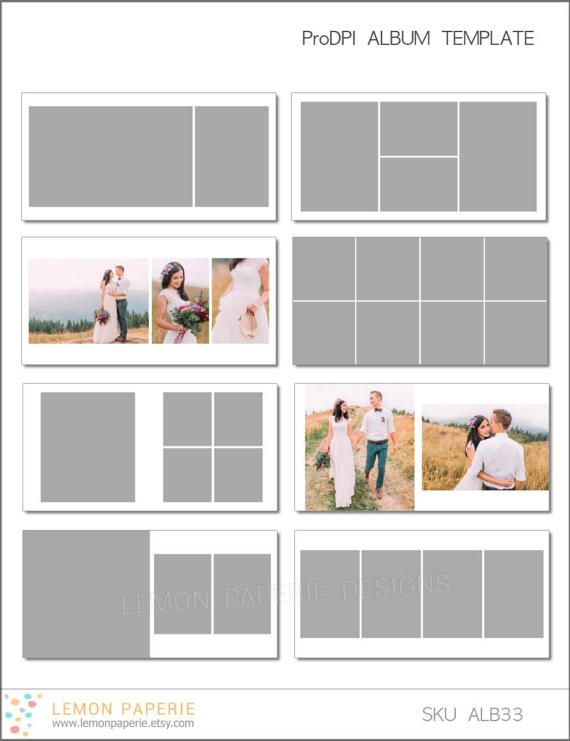 Sale 6x6 Prodpi Album Template 60 Page Includes 12x12 Etsy Photo Album Layout Album Design Layout Photobook Layout
