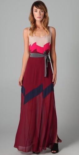 Bcbg embroidered maude maxi dress