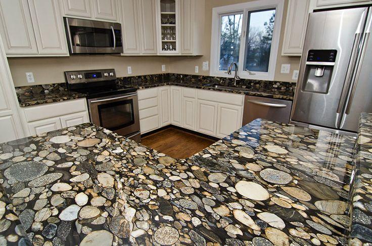 Kitchen Countertops In Black Marinace Granite