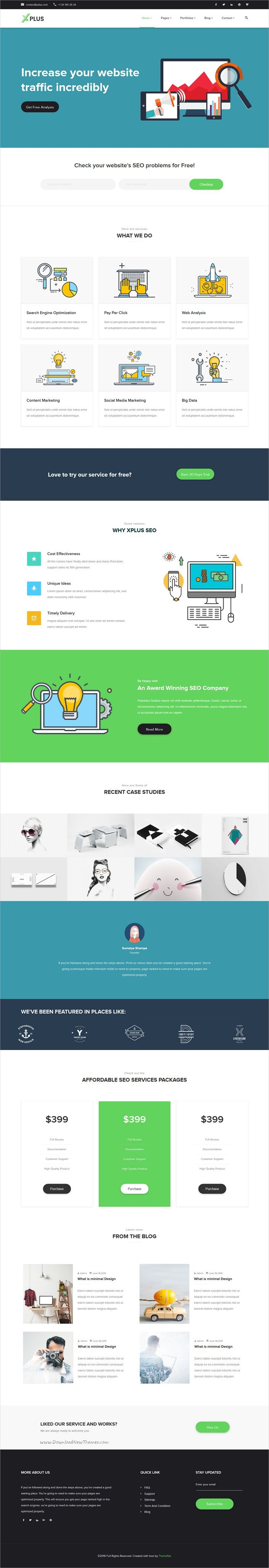 xplus is a google material design based responsive multipurpose html5 bootstrap template best suitable for