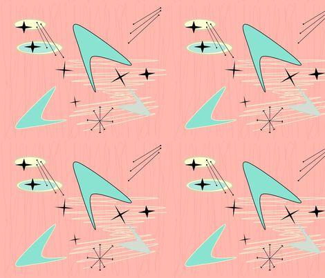 Small Boomerangs Starbursts custom fabric on Spoonflower