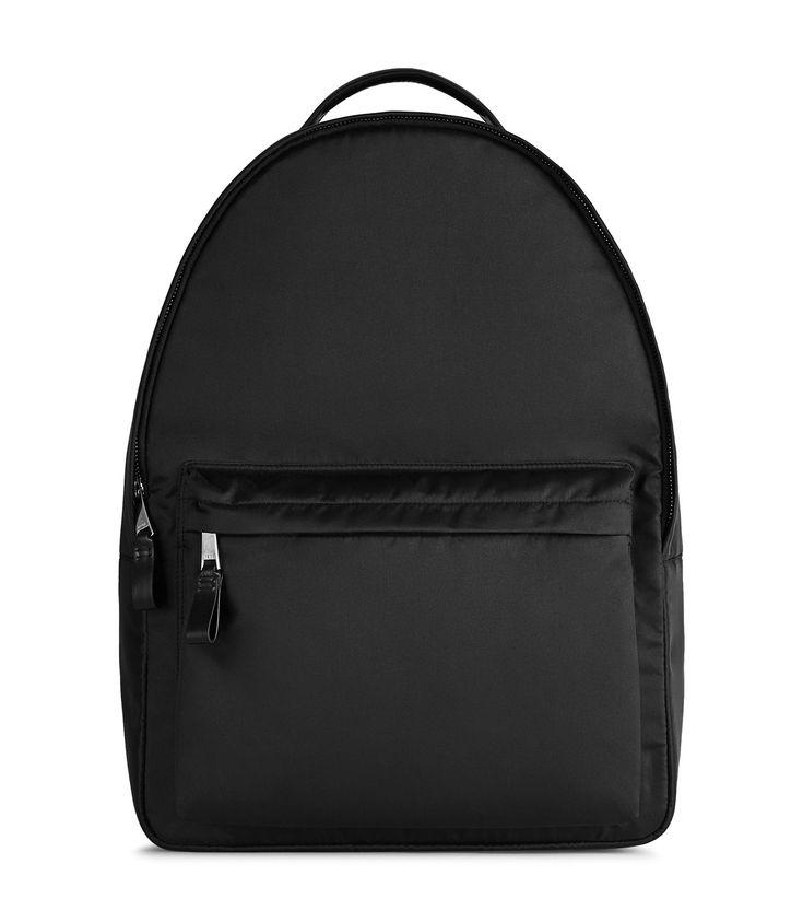 REISS GINGER NYLON TRIM BACKPACK BLACK. #reiss #bags #leather #nylon #backpacks #