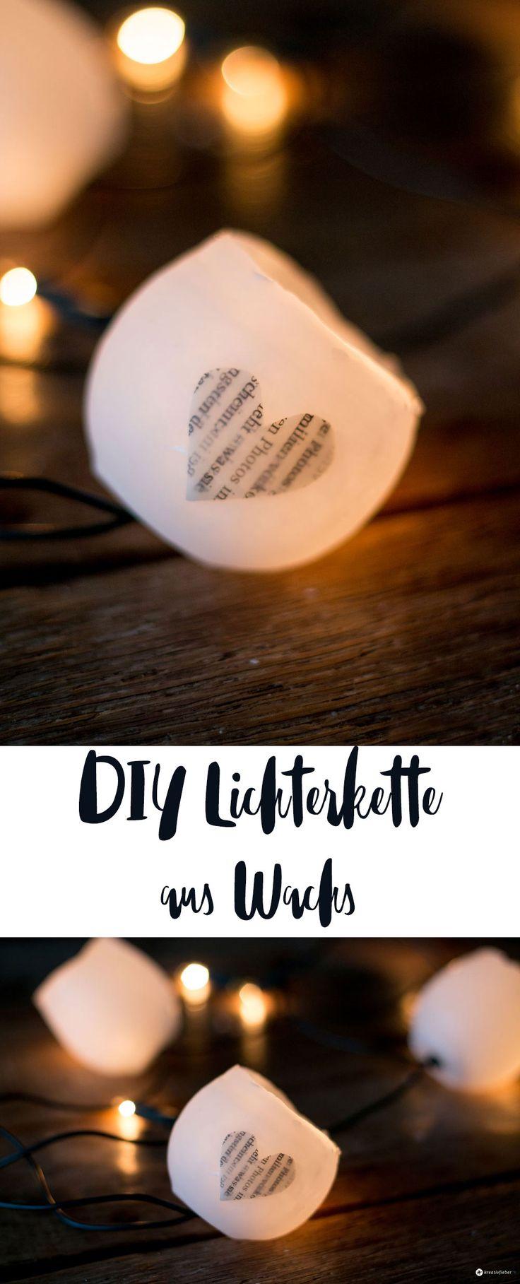 DIY Lichterkette Aus Wachs Selbermachen   DIY Weihnachtsdeko