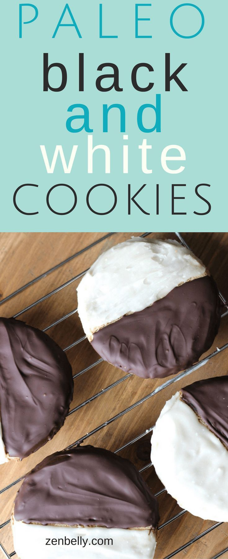 Paleo black and white cookies. (Requires almond flour and a little tapioca flour.)