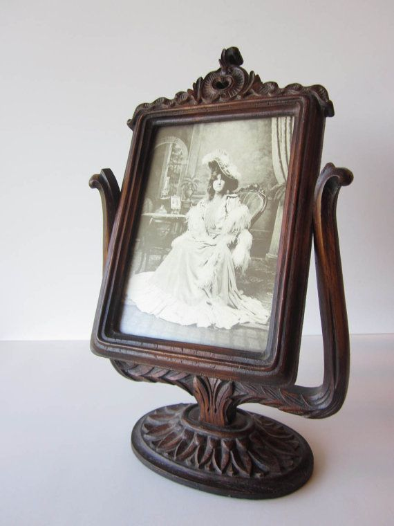 Vintage Carved Oak Victorian Picture Frame by RagtimeTreasures, $55.00