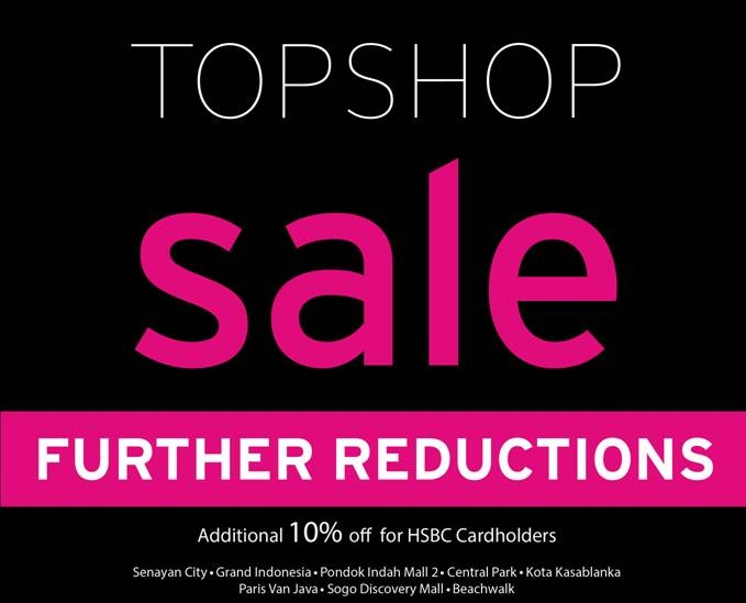 It's Further Reductions at Topshop!