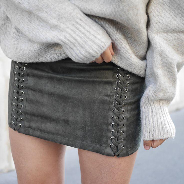 Megan vlt - lace up skirt - wool pull - meganvlt