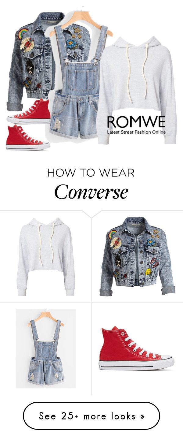 """Denim"" by vrata-597 on Polyvore featuring Alice + Olivia, Monrow and Converse"