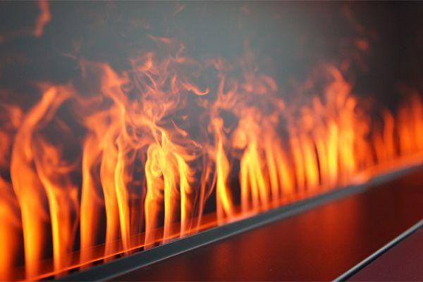 Foyer électrique sans flamme, de Nero Fire Design