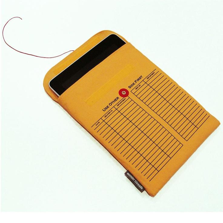 ipad Sleeve-  looks like an interoffice envelope.  wonderthreads.com