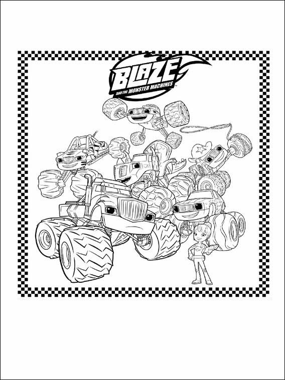 We have blaze, aj, gabby, starla, pickle and more. Blaze and the Monster Machines Coloring Pages 1   Monster