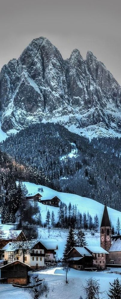 Funes in winter, Italy. - Explore the World with Travel Nerd Nici, one Country at a Time. http://travelnerdnici.com