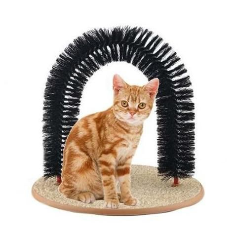Cat Arch Groom and  Cats Scratcher and  Interactive Toy For Pet Cat.