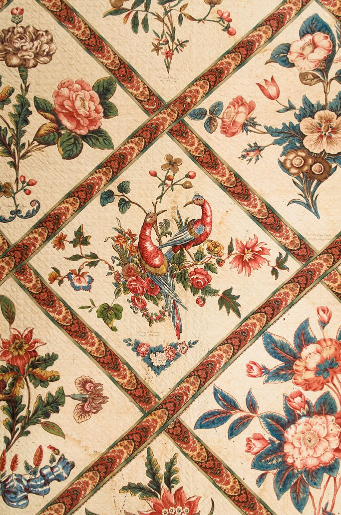 One of the museum's newest textile acquisitions is a fabulous chintz appliqué quilt, scheduled to appear for the first time in Botanical Quilts: Chintz Appliqué in the 19th Century, opening Saturday,...
