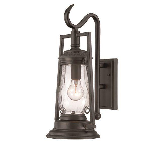 Acclaim Lighting | Kero 18.5-In Matte Black Clear Glass Outdoor Wall Lantern | Rona