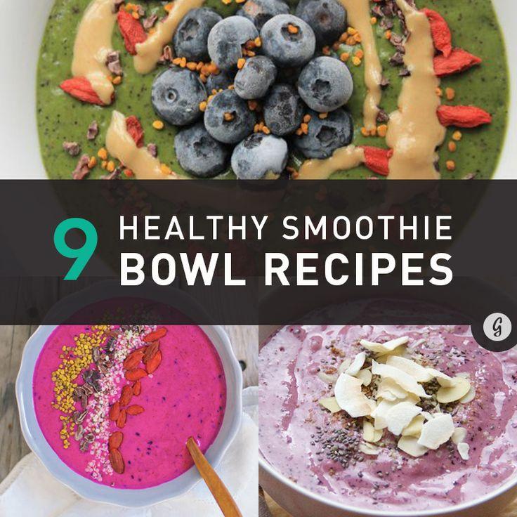 9 Healthy Smoothie Bowl Recipes #healthy #smoothies #recipe