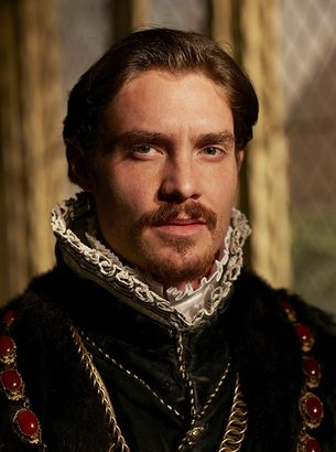 Edward Seymour, Lord Beauchamp, Earl of Hertford and later 1st Duke of Somerset & Lord Protector as played by English actor Max Brown. He was brother to Henry VIII's 3rd wife - the sweet Jane Seymour and to Thomas Seymour. (whom he had executed) He, himself met his own gruesome death by execution in 1552.  Karma is a bitch.