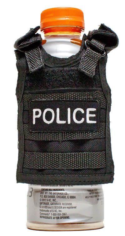 Miniature Tactical Vest Beverage Koozie - POLICE Product Code: T99-PTT-03 $10... adorable!
