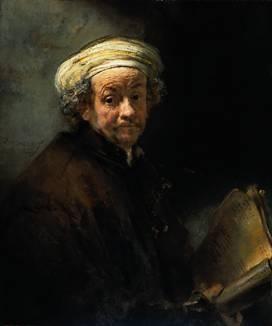 Rembrandt's self portrait as St. Paul