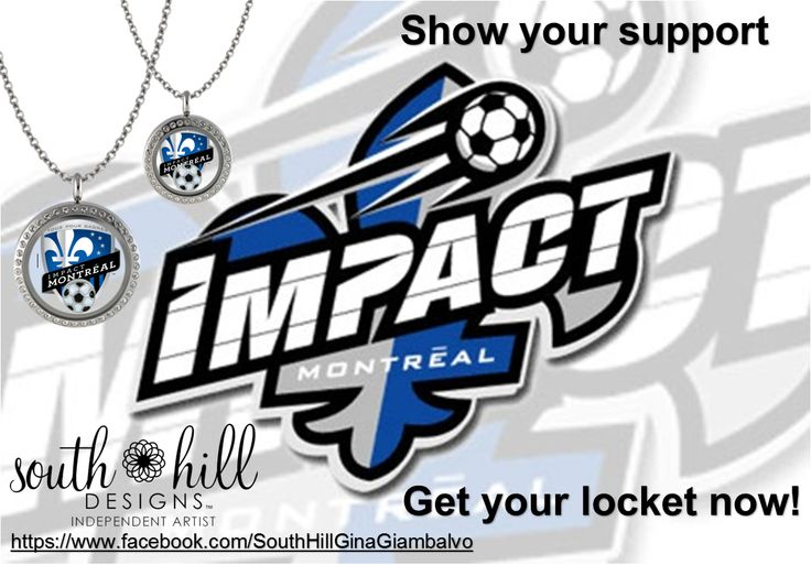 Montreal Impact Soccer. Custom lockets from South Hill Designs by Independent Artist Gina Giambalvo