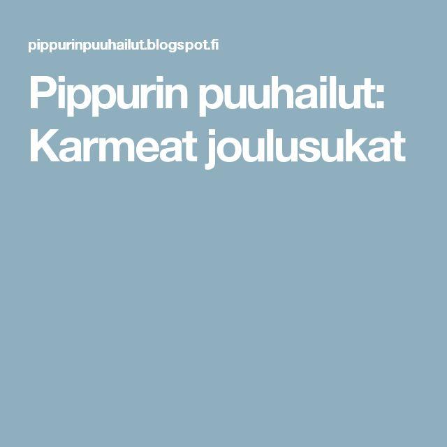 Pippurin puuhailut: Karmeat joulusukat