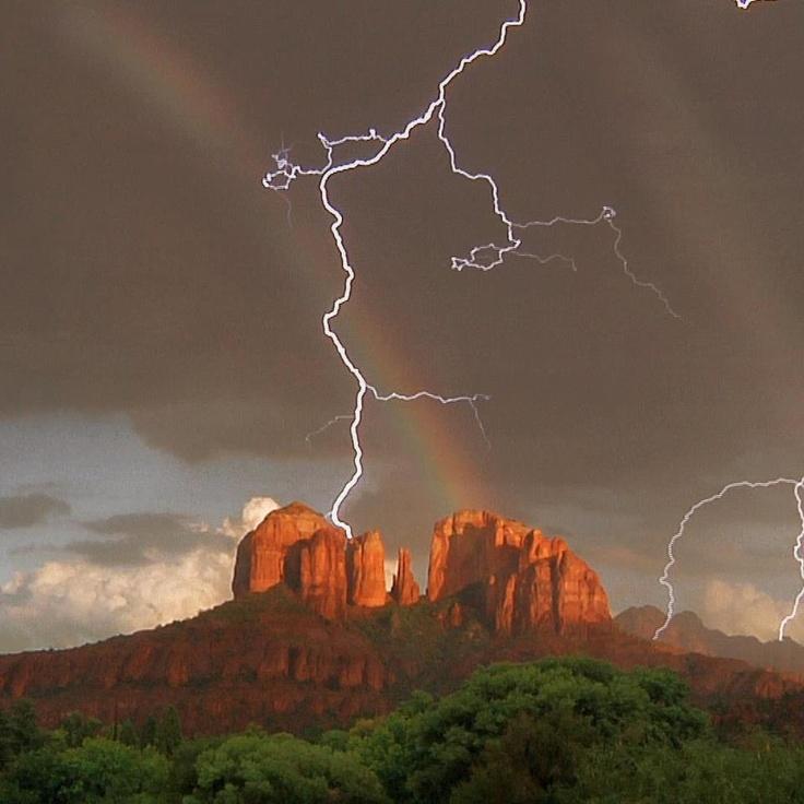 Arizona monsoon, Sedona.